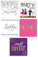 GENERAL Happy BIRTHDAY Party Invitations Cards & Envelopes Boy Male Girl Female