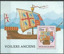 BÉNIN 1997 voiliers antique Feuille bloc