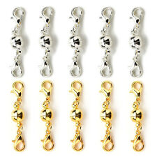 10 Pcs Gold & Silver Ball Tone Magnetic Lobster Clasps for Jewelry Necklace BH