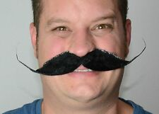 Blonde Droop Style Self Adhesive Fancy Dress Moustache. UK Next Day DISPATCH