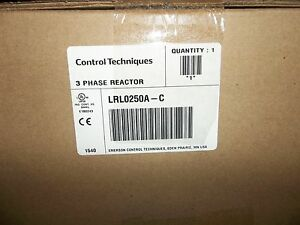EMERSON 3 PHASE OUTPUT LINE REACTOR LRL0250A-C