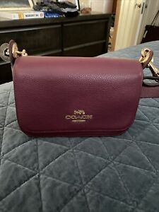Coach Jes Messenger Crossbody Bag NWT Burgundy