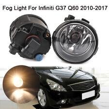 PAIR Front Fog Light Lamp For Infiniti G25 G37 Q60 QX70 2010-2017  Driving Lamp