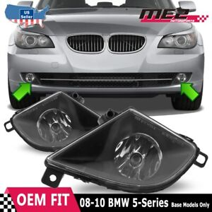 Fits 08-10 BMW E60 PAIR Fog Lights Clear Lens OE Style Replacement + Bulbs