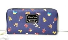 Disney Parks Food Icons Mickey Pretzels Ice Cream Pizza Zipper Loungefly Wallet
