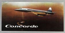 BAC AEROSPATIALE CONCORDE MANUFACTURERS SALES BROCHURE SUPERSONIC AIRLINE