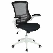 Flash Furniture Mid Back Mesh Office Swivel Chair in Black and White