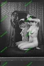 76 Original Negatives 2 RISQUE NUDE PIN-UP ARTIST MODELS 1940s 50s