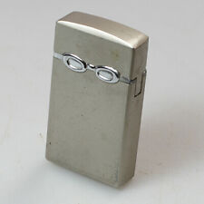 old vintage antique retro metal pocket Cigarette gas Lighter silver chrome