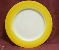 """LYNN CHASE China - ACENTS Pattern - Daffodil Yellow - 10 3/4"""" DINNER PLATE"""