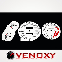 Honda CBR 1100 XX Blackbird 1996-2000 Tachoscheiben Tacho WEISS