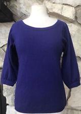Vince Purple 100% Cashmere Scoop Neck 3/4 Sleeve Sweater Sz XS