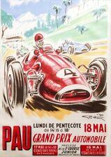 Pau Grand Prix Automobile | Lundi De Pentecôte | Vintage Poster | A1, A2, A3
