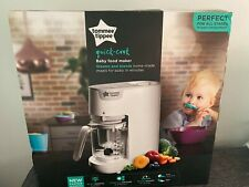 Tommee Tippee Quick Cook Baby Food Maker - Steam & Blends - White