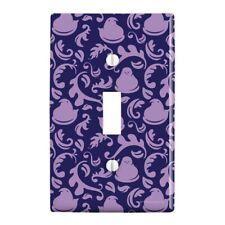 Purple Peeps In Garden Pattern Wall Light Switch Plate Cover