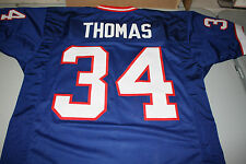 THURMAN THOMAS #34 SEWN STITCHED THROWBACK HOME JERSEY SIZE XLG