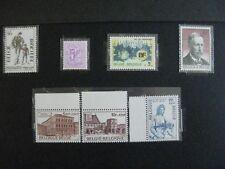 timbres belgique : 1974 cob n° 1752 et de 1756 à 1761 **