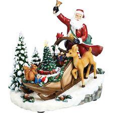 Roman Musical Santa in Sleigh Figurine - 32301 Lights up and Train rotates - NIB