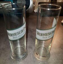 2 Biergläser Brauerei Wernesgrüner / 0,3 Liter Markierung / ca. 19 cm hoch