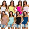Sexy Damen Bandeau Top Shirt trägerlos Spitze Party Club Mode Sommer S 32 34 36