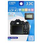 JJC 2Kits Clear LCD Screen Protector Film LCD Guard for DSLR Camera PENTAX K-1