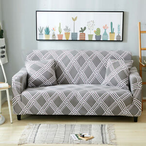 1/2/3/4 Seater Sofa Slipcover Couch Protector Cover Stretch Elastic Home Decor
