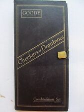 1920s Dominoes & Checkers Travel Set by Goody - Vintage and Complete!