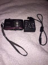 Nikon Coolpix S4100 14MP HD 720p Plum Camera With USB Charger Tested And Working