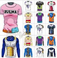 Saiyan Goku Short Sleeve 3D Cartoon T-shirt Jersey Dragon Ball Tops Blouses L79