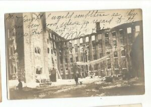 PM  DOVER NEW HAMPSHIRE 1907 MILL FIRE FIRE STATION FIRE DEPARTMENT RE