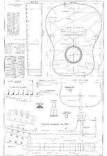 Martin D28  acoustic Guitar  Plans     GUITAR PLANS  - Full scale   detailed