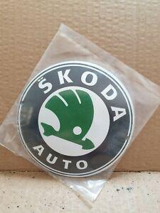 """SKODA  auto Stove Enamel Sign Really Neat 4.5""""  pre holed  New. No39"""