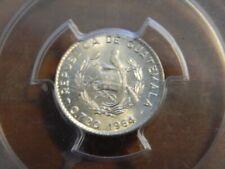 1964 Guatemala 5 Cents PCGS MS67 Gem BU Silver Coin