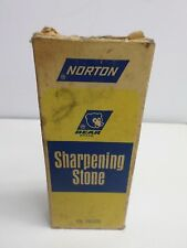 "Vintage ""BEAR BRAND"" NORTON SHARPENING STONE - JB-45 - NEVER USED"