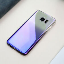 FLOVEME For Galaxy S7 / Edge Case Ultra Thin Gradient Blue-Ray Light Case Cover
