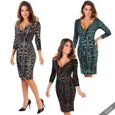 Animal Print V-Neck Dresses for Women