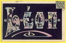 cpa de 1907 Fantaisie ART NOUVEAU Fête des Prénoms Saint LÉON Femmes NEW ART