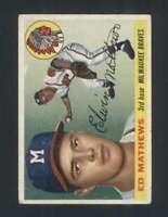 1955 Topps #155 Eddie Mathews VG/VGEX Braves 126090
