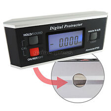 Angle Finder Level Protractor Inclinometer Magnetic V-Groove 0~360° w/ Backlight
