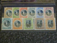 BARBADOS POSTAGE STAMPS SG201-211 1920-21 LIGHTLY MOUNTED MINT