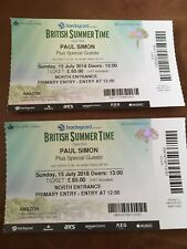 2 Tickets For Paul Simon At BST Hyde park Sunday 15th July
