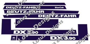Deutz Fahr DX3.70 or DX3.90 stickers / decals set choice of sizes
