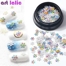 Nail Art Christmas Xmas Snowflake Glitter Sequins Tips Glitter Decoration DIY