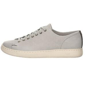 UGG Pismo Sneaker Low Herren Schuhe Glattleder uni grau 16958
