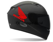 Helmet decals (2) Honda Motorcycle helmet, Sticker fit Honda wing tank decal