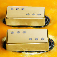 Lindy Fralin Twangmaster Pickups GOLD Covers 8200/9000 Humbucker Sized
