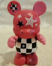 Disney Vinylmation MICKEY MOUSE STARS CHECKERS Lisa Badeen Figurine Hot Pink