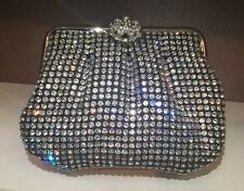 NIB Crystal Evening Bag Clutch Hand Bag made With Swarovski Elements Black