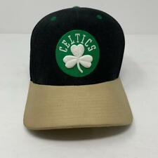 Boston Celtics Mitchell & Ness Hat Cap Black/Tan/Green Adjustable Strap NBA EUC