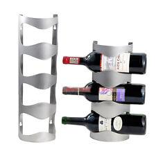 Stainless Steel Wine Rack Wall Mount Bar Decor Towel Wine Bottle Holder 6909HC